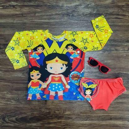 Kit Praia Mulher Maravilha Infantil