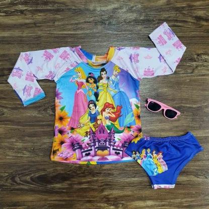 Kit Praia Princesas da Disney Infantil