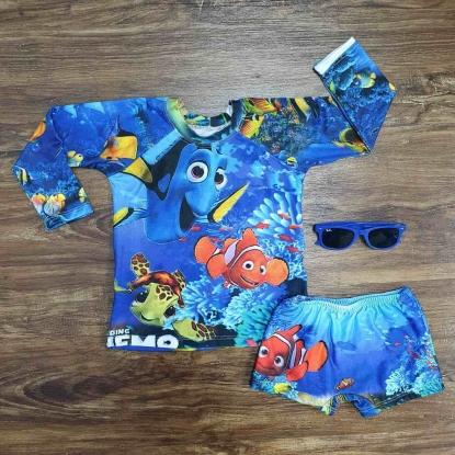 Kit Praia Procurando Nemo Azul Infantil