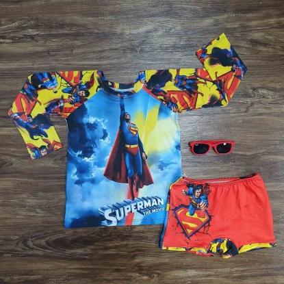 Kit Praia Super Homem Infantil