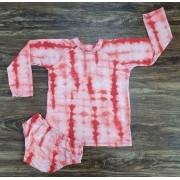 Kit Praia Tye Dye Vermelho Infantil