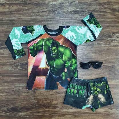 Kit Praia Verde Hulk Infantil