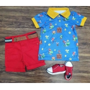 Conjunto com Polo Mario