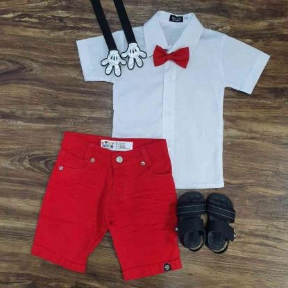 Conjunto Mickey Básico Branco Infantil