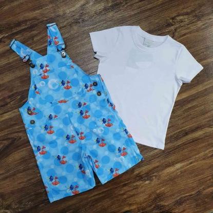 Look Procurando Nemo com Camiseta Branca Infantil