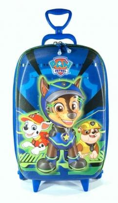 Mochila Patrulha Canina Chase Azul Infantil