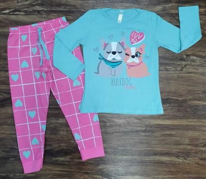 Pijama Bulldog Azul Infantil