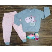 Pijama Cute Rosa Infantil