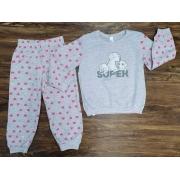 Pijama Super Filha Cinza Infantil