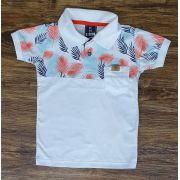 Polo Floral Branca Infantil