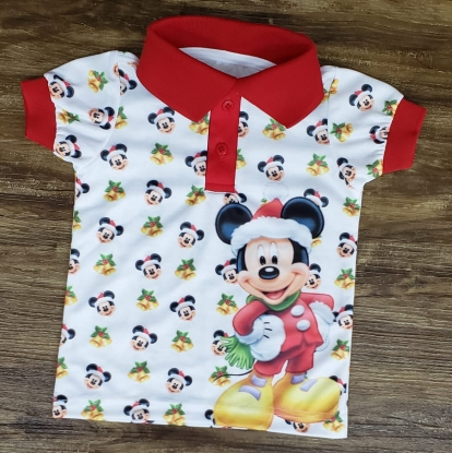 Polo Mickey Natal Infantil
