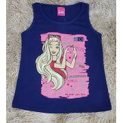 Regata Barbie Azul Marinho