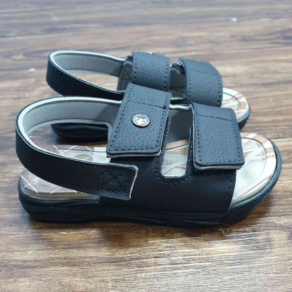 Sandalia Preta Velcro Infantil