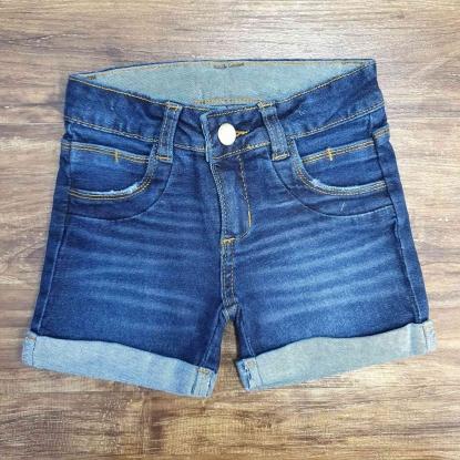 Shorts Básico Jeans Escuro Infantil