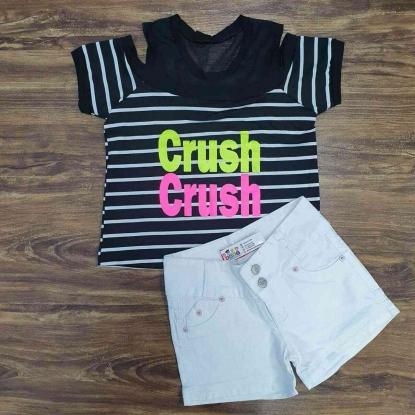Shorts Branco com Blusa Chush Infantil