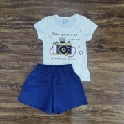 Shorts com Blusa Take Pictures Infantil