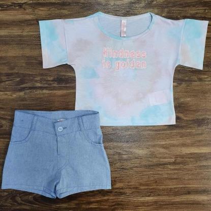 Shorts com Camiseta Cropped Infantil
