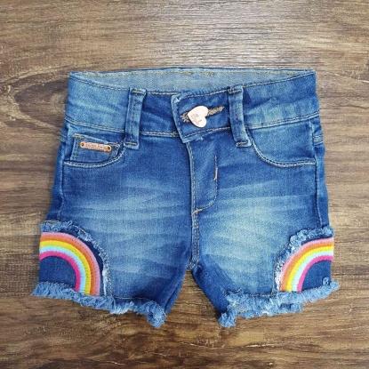 Shorts Feminino Arco-íris Infantil