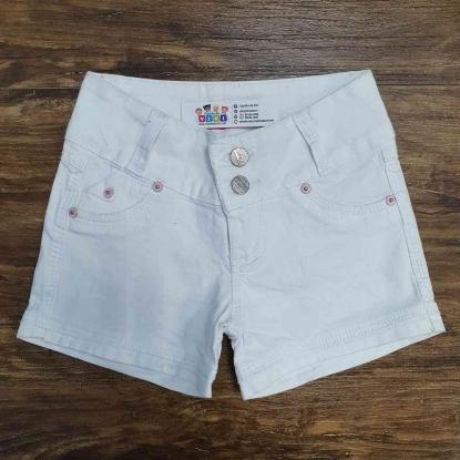 Shorts Jeans Branco Infantil
