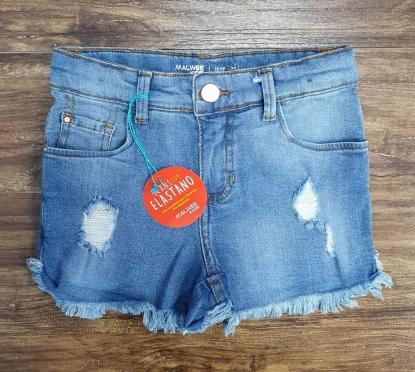 Shorts Jeans Com Detalhes Infantil