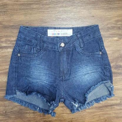 Shorts Jeans Escuro com Detalhes Infantil