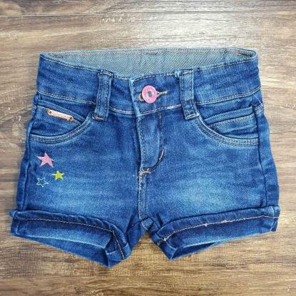 Shorts Jeans Escuro Estrela Infantil