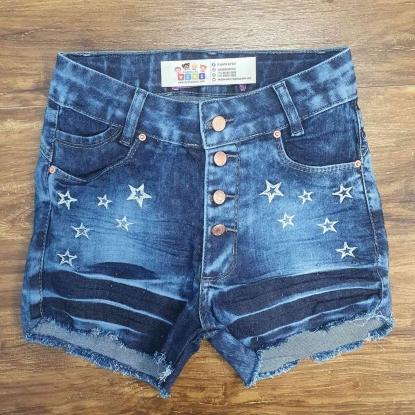 Shorts Jeans Estrela Infantil