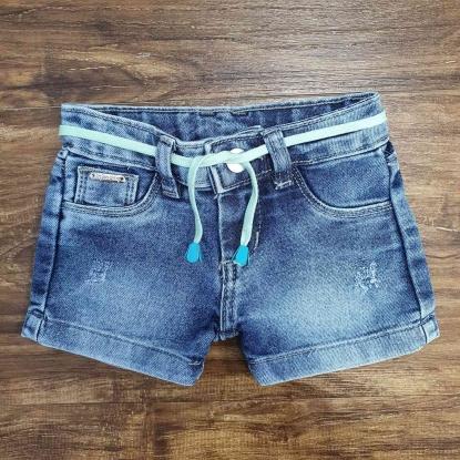 Shorts Jeans Feminino Básico Infantil
