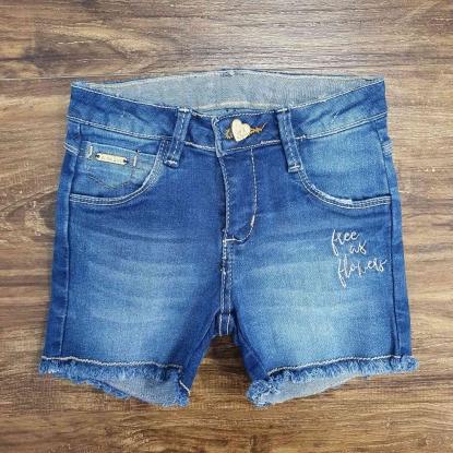 Shorts Jeans Flowers Infantil