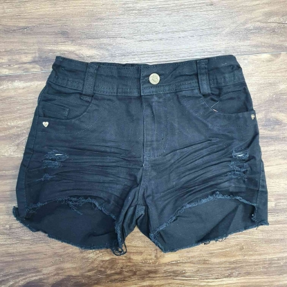 Shorts Jeans Preto Infantil