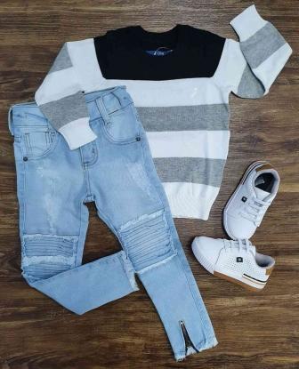 Suéter com Calça Jeans Clara Infantil