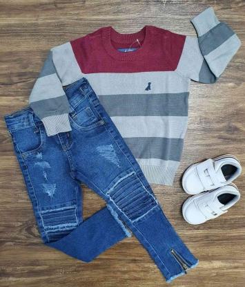 Suéter com Calça Jeans Infantil