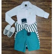 Suéter com Camisa mais Bermuda Infantil