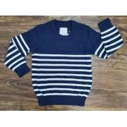Suéter Azul Listrado Infantil