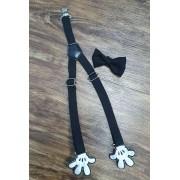 Suspensório e Gravata Borboleta Mickey Infantil