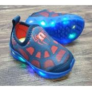 Tênis de LED Homem Aranha Infantil
