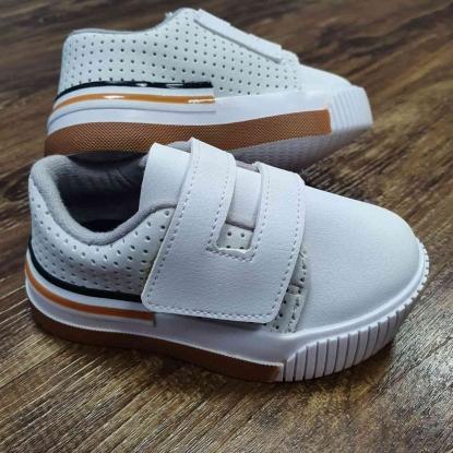 Tênis Branco de Velcro Molekinho Infantil