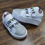 Tênis I Love Branco Velcro Infantil