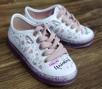 Tênis Menina de Unicórnio Glitter