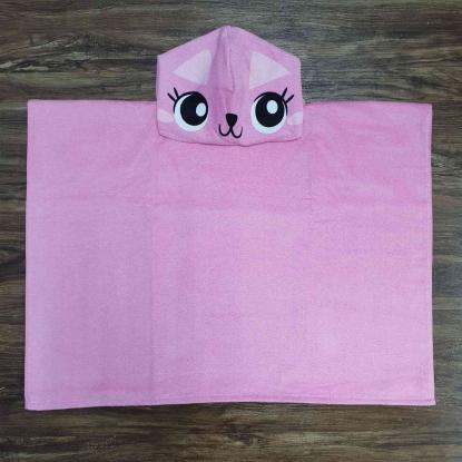 Toalha de Banho Infantil Rosa