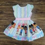 Vestido 3 Palavrinhas Infantil