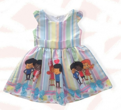 Vestido 3 Palavrinhas Rosa Infantil