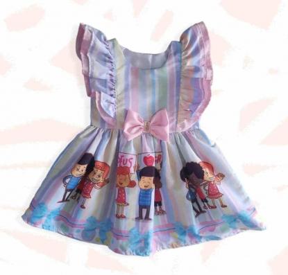 Vestido Babados 3 Palavrinhas Infantil