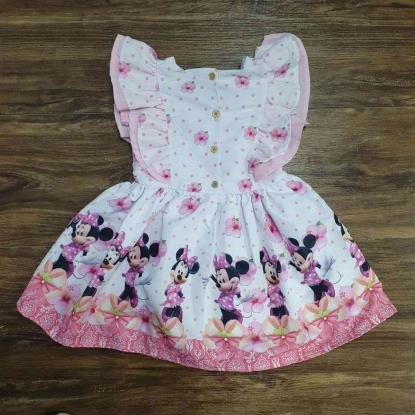 Vestido Babados Minnie Infantil