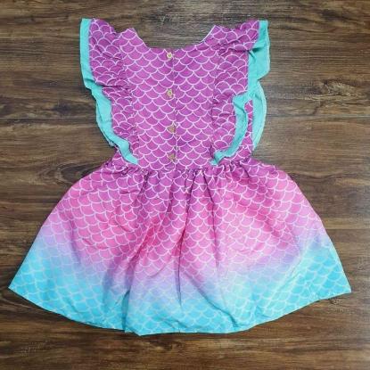 Vestido Babados Sereia Infantil