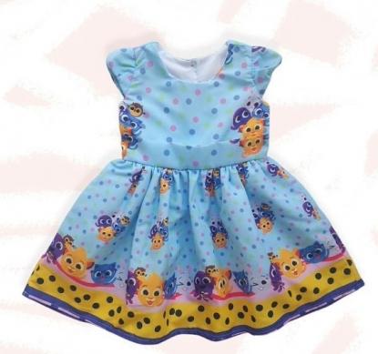 Vestido Bolofofos Azul Infantil