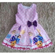 Vestido Rosa Bolofofos Infantil