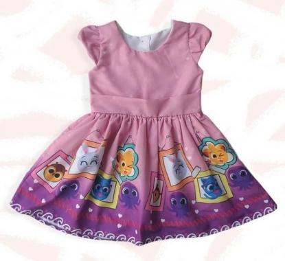 Vestido Bolofofos Quadros Infantil