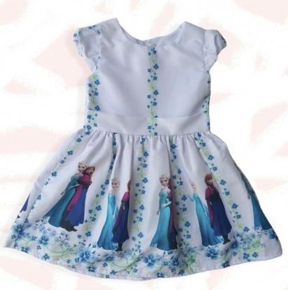 Vestido Branco Frozen Infantil