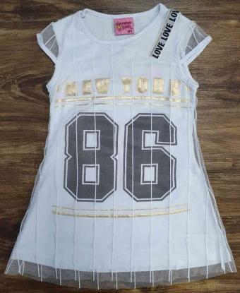 Vestido Branco New York 86 Infantil